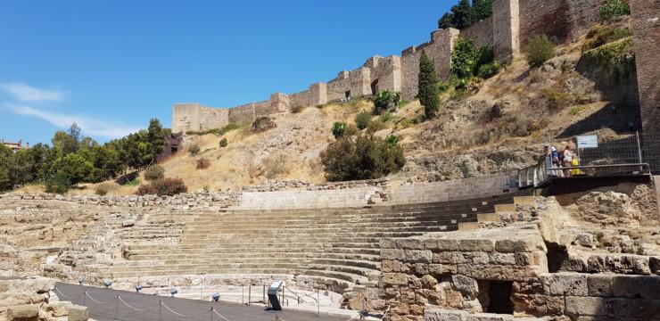 L'amphithéâtre de Malaga